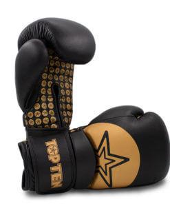 Boxhandschuh Wrist Star Schwarz-Gold