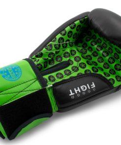 Boxhandschuh Fight Schwarz-Grün Innenhand