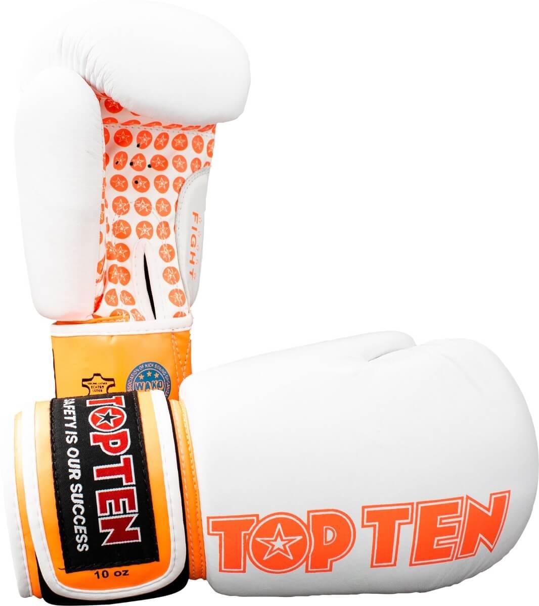 Boxhandschuh Fight Weiss-Orange