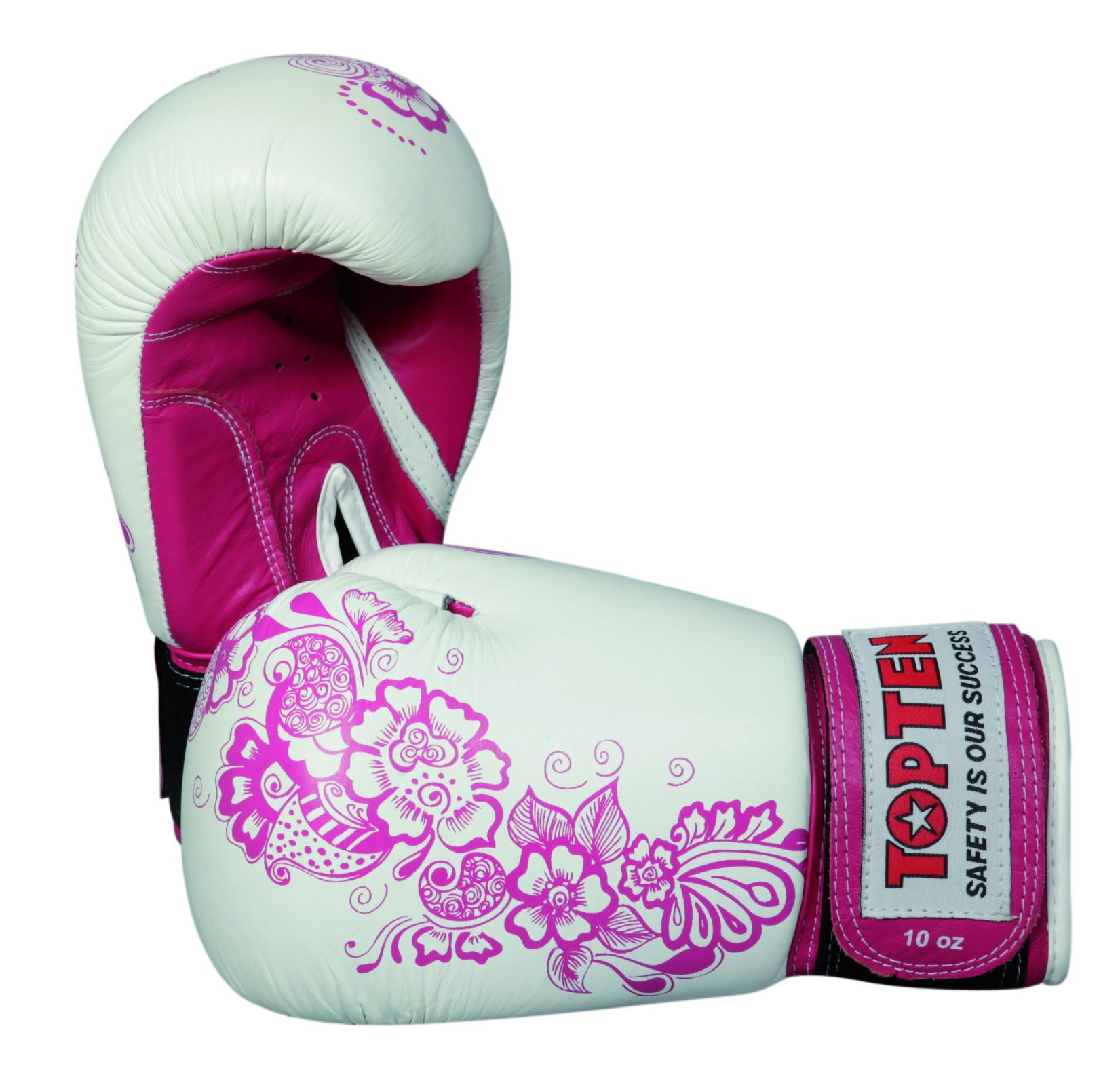 Boxhandschuh Ultimate Woman Fight Weiss Pink