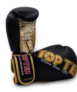 Boxhandschuh Woman Schwarz-Gold
