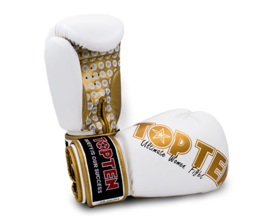 Boxhandschuh Woman Weiss-Gold