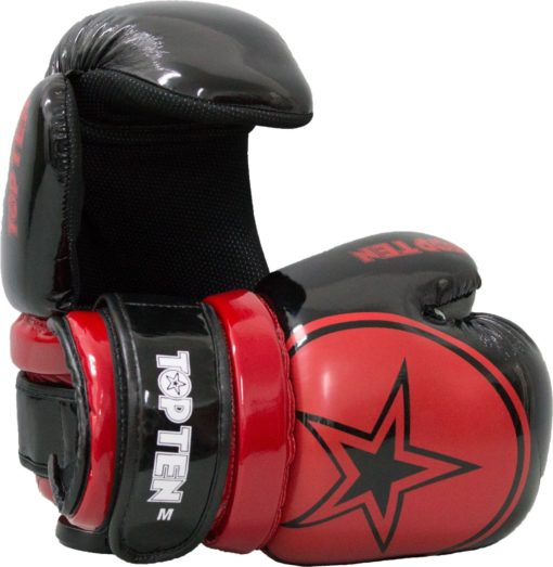 Pointfighter Glossy Block Star Schwarz-Rot