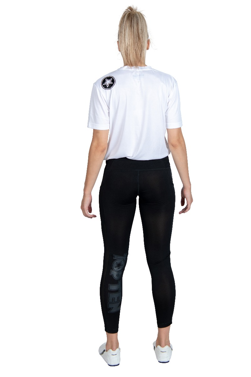 Fitness Tights Leggings Schwarz Back