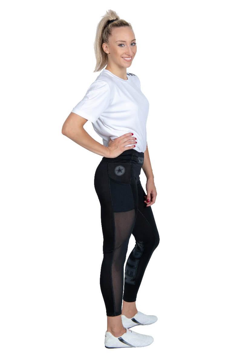 Fitness Tights Leggings Schwarz Side