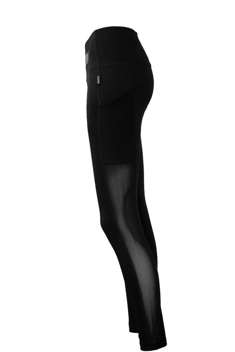 Fitness Tights Leggings Schwarz Detail Left