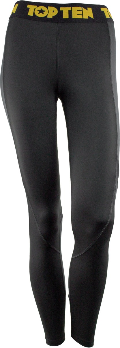 Fitness Leggings Black Grey Front