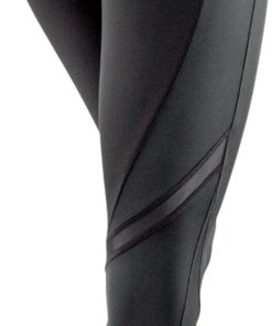 Fitness Leggings Black Grey Left Back