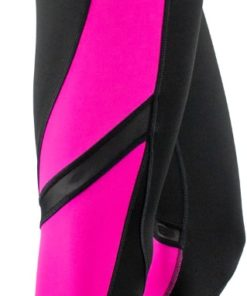 Fitness Leggings Black Pink Left