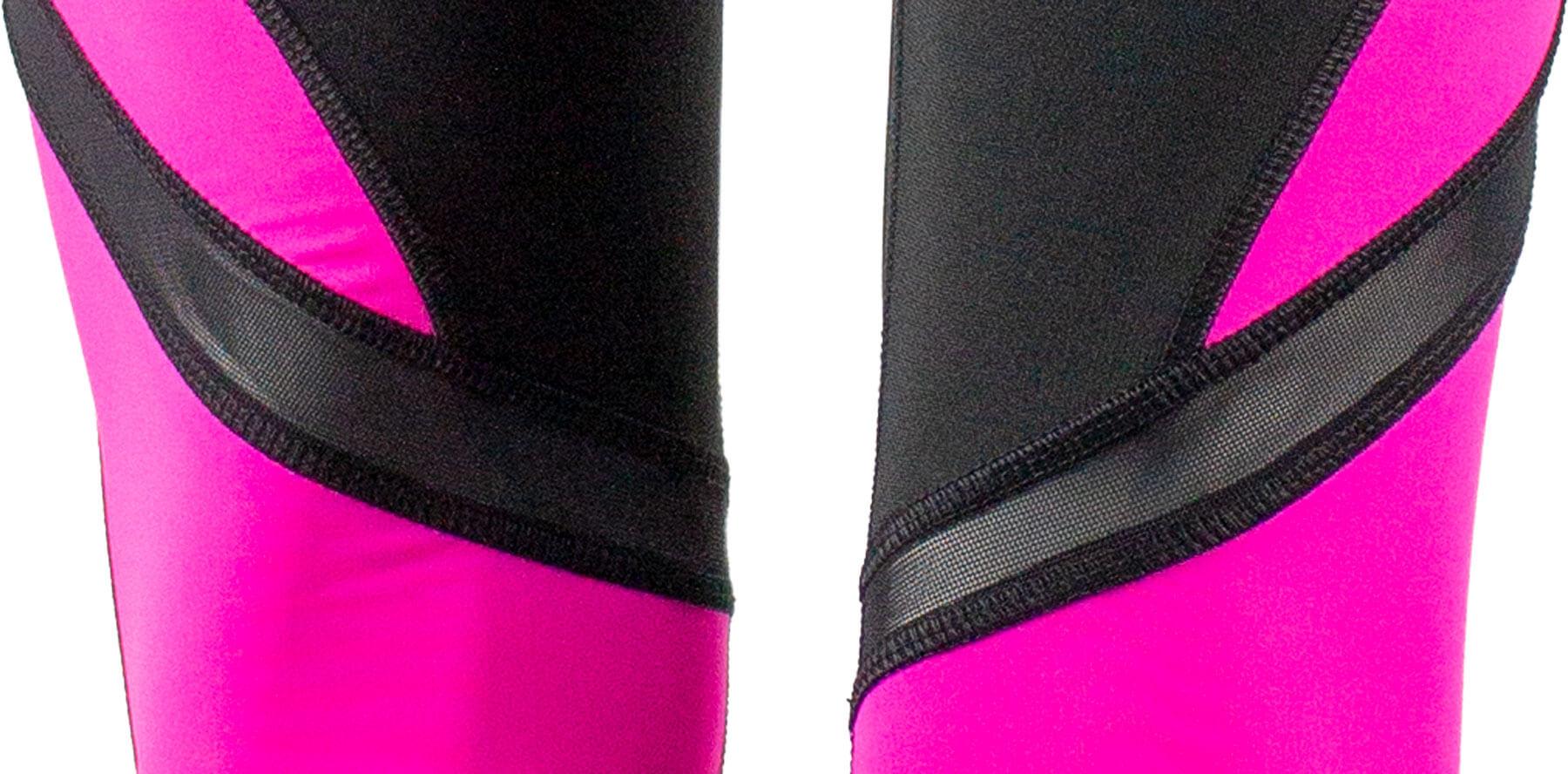 Fitness Leggings Black Pink Detail