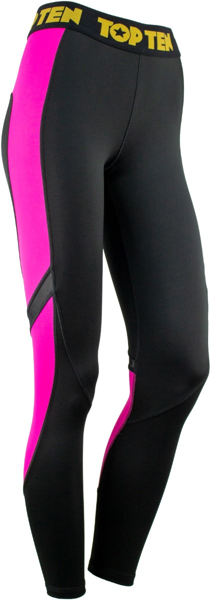 Fitness Leggings Black Pink Front