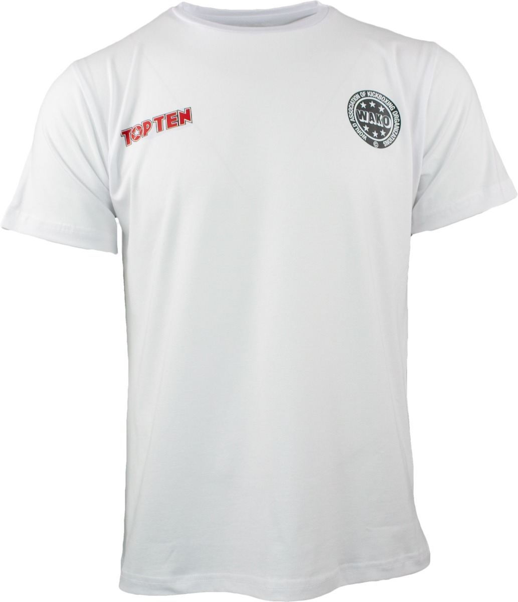 T-Shirt WAKO No. 1 Weiss Front