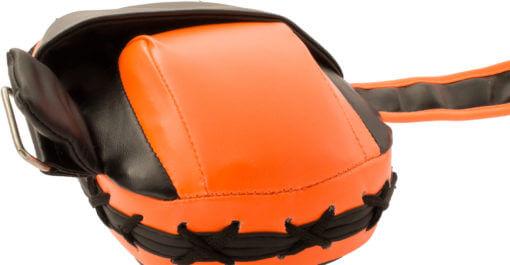Handpratze Munch Schwarz-Orange Front