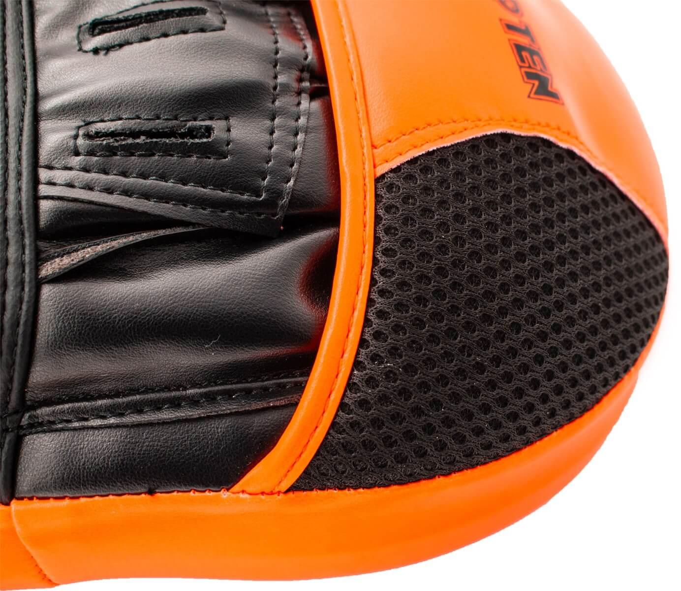 Handpratze Munch Schwarz-Orange Detail