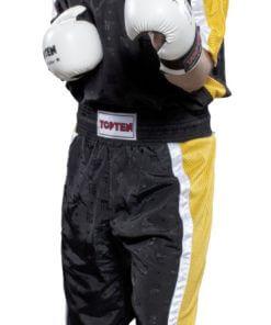 Kickboxhose Mesh Schwarz-Geld komplett