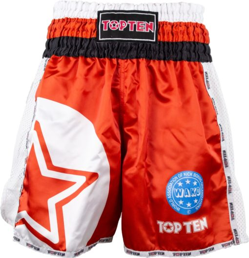 top-ten-kickboxing-shorts-wako-star-red-18641-front