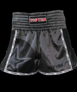 thai-kickboxing-shorts-topten-star-black-front