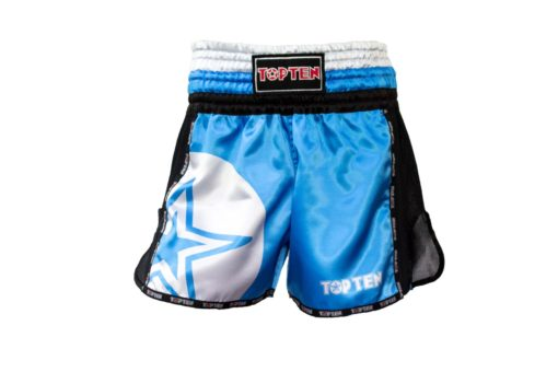 thai-kickboxing-shorts-topten-star-blue-front