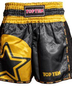 top-ten-kickboxshort-black-gold front