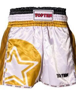 top-ten-kickboxshort-white-gold front